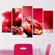 Декоративeн панел за стена с ценен тропически плод в червено Vivid Home