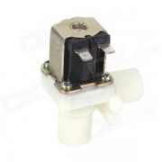 """ZnDiy-BRY FPD-270A 24V DC 1/2 """"en plastique électrovanne eau - noir + blanc"""