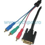 CABLU DIGITAL DVI (24+1)-3RCA 1.8M KPO3706-1.8