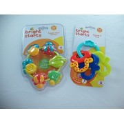 Baby Gift Bundle - 2 Items: Bright Starts Buggie Bites Teether and Bright Starts License to Drool Teething Keys