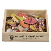 Skillofun Wooden Alphabet Picture Puzzle, Multi Color