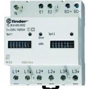 Háromfázisú fogyasztásmérő, 3 x 65 A, 2 Tarif, MID, FINDER (125403)