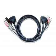 ATEN 2L-7D03UD :: DVI KVM кабел, Dual Link, DVI-D M + USB type A M + 2 Audio plugs >> DVI-D M + USB type B M + 2 Audio plugs, 3.0 м