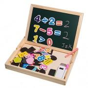 JZK® Educativa del juego del juguete no tóxico rompecabezas de madera con pizarra de la pizarra, los imanes, marcador, tiza, borrador, creativa y desarrollar habilidades intelectuales y creativas del bebé, el regalo perfecto para niños mayores de 3 años(A