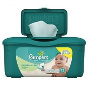 Pampers Baby Wipes Natural Clean Tub 72 count (Pack of 8)