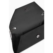 Womens Next Envelope Clutch Bag - Black