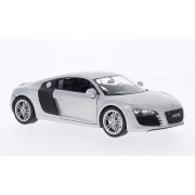 Audi R8 V10, silver/Carbon, Model Car, Ready-made, Welly 1:24