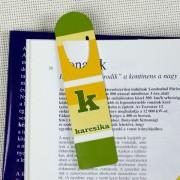 Zöld csíkos könyvjelző
