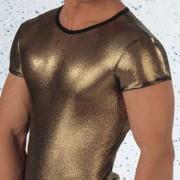 Eros Veneziani T Shirt Reflections Short Sleeved Gold 6730