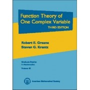 Function Theory of One Complex Variable by Robert E. Greene