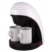 Кафемашина шварц Elekom EK 8008, 450 W, 2 чаши, Бяла