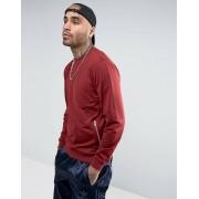 ASOS Бордовый свитшот с карманами на молнии ASOS - Красный