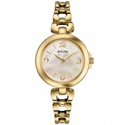 Bulova Classic Gold-Tone Stainless Steel Mother of Pearl Dial Gold-Tone SS - BUL-97L138 Mother of PearlGold-Tone