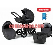 Бебешка комбинирана количка Nemo еко кожа 3в1-графит