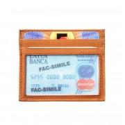 Florence Leather Market Porta carta di credito con finestrina trasparente (PC334)