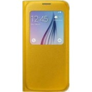 Husa Flip S-View Samsung Galaxy S6 G920 Yellow