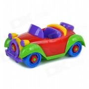 Montado DIY juguetes educativos del coche del vintage para ninos / ninos - Red + Blue + Multicolor