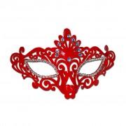 Elegant Ladies Red PVC Masquerade Mask