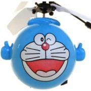 Doremon Fly Ball cum helicopter Toy for kids with Light and IR sensor Remote con