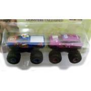 Scooby Doo 2 Monsters Unleashed Monster Truck 2 Car Set Blue / Purple ~ 1:64 Scale Die Cast Metal ~ Joyride 2004