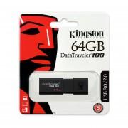Memoria Flash USB 3.0 Kingston DataTraveler 100 G3 (DT100G3/64GB) 64 GB-Negro