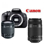Canon eos 700d + 18-55mm is stm + 55-250mm is ii - man. ita - 2 anni di garanzia