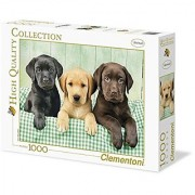 Clementoni Three Labrador Puzzle (1000 Piece)