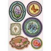 Sticker papillon et fleurs