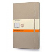 Moleskine Classic Colored Notebook, Large, Ruled, Khaki Beige