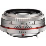 Obiectiv Foto Pentax-Ricoh 21mm f3.2 DA HD AL Limited Silver