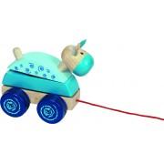Húzogatós játék vágtató lovacska, kék