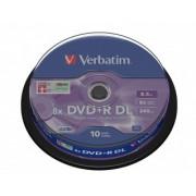 Verbatim DVD+R DL (Dual Layer) 8.5 Gb (43666), set/10 bucati spindle