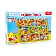 Small Foot Company - Winnie The Pooh Story Puzzle, 3 in 1