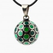 Babylonia multi colour bolletjes groen