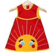 DeflamenKa BaBy - Vestido Sin Mangas Bebé Niña Micropana - Aplique Solete - Talla : 2A