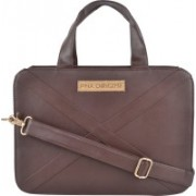 PNA 13 inch Laptop Messenger Bag(Brown)