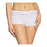 Leg Avenue Women's 1-Piece Lace Ruffle Tanga Short