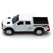 White Jada Just Trucks 5-inch 2011 Ford F-150 SVT Raptor Pickup 1/32 Scale Truck with Pullback Action