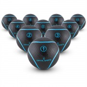 Capital Sports Rotunder Set de balones medicinales de 1, 2, 3, 4, 5, 6, 7, 8, 9 y 10kg