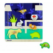 Janod Happy Animo Animal Wooden Peg Puzzle