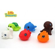 Floating Toy Animal Friend for Children's Bathtub Playtime Pack of 6 pc - Bring Home a Loveable Seal, Sea Lion, Turtle and More Animals from the Sea