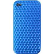 Skin Blautel TPU 4-OK Protek Diamond Oil Apple iPhone 4 4s Albastru