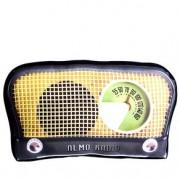 Almofada Rádio Vintage Amarela