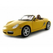 Schaalmodel Porsche Boxter S Cabrio geel