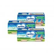 Mellin Omogeneizzati di carne - Kit risparmio 3x Coniglio - KIT_3X_Confezione da 160 g ℮ (2 vasetti x 80 g)