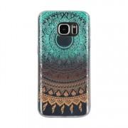 Hq-Cloud® Coque Étui Transparent En Tpu Silicone Pour Samsung Galaxy J5 (2016) J510fn/ J510f/ J510g/ J510y/ J510m/ J5 Duos (2016) En Vert Jaune Motif Mandala Design Soleil Indien
