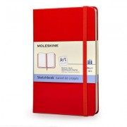 Moleskine Sketchbook Pocket, Red, Hard
