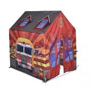 Knorrtoys 55436 - Tenda per bambini, motivo: Caserma dei pompieri