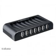 AKASA AK-HB-09BK 7-portový externý USB HUB, čierny Connect 7+