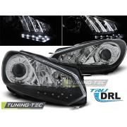 Přední světla, lampy s denním svícením, DRL VW Golf VI 08-13 černé H15